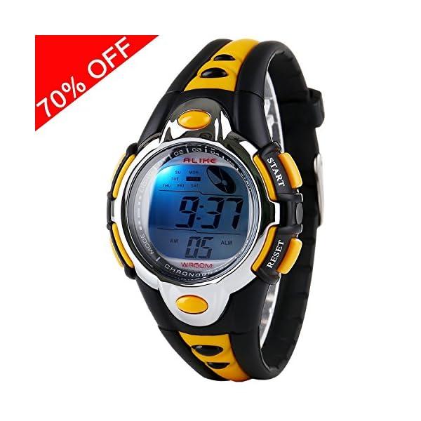 Viliysun Kid Watch Multi Function Digital LED Sport 50M Waterproof Electronic Digital Outdoor Watches Alarm for Boy Girl Children Gift