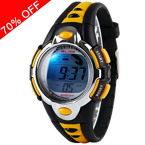 Kid Watch for Child Boy Girl Fashion LED Multi Function Sport Outdoor Digital Dress 50M Waterproof Alarm