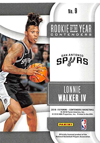 Amazon.com  2018-19 Panini Contenders Rookie of the Year Contenders Retail  Basketball  9 Lonnie Walker IV San Antonio Spurs Official NBA Trading Card  by ... 9f9588798
