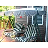 Garden Winds 2-Seater with Arm Rest Swing Replacement Canopy