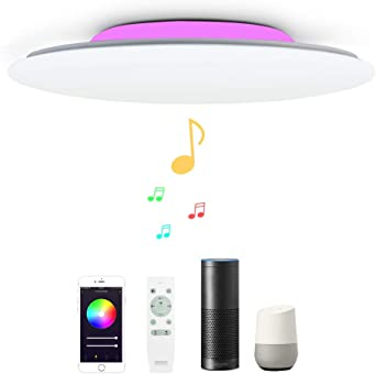 Smart Home DEL lampe verre satiné Timer Mur Lampe Variateur Blanc Google Alexa