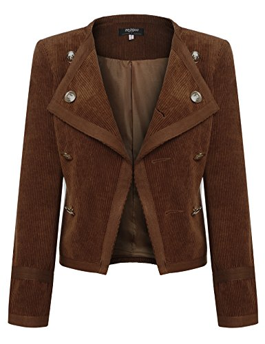 Zeagoo Womens Casual Work Office Corduroy Blazer Jacket Slim Suits Coat