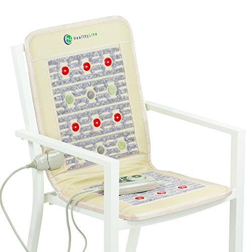 HL HEALTHYLINE - Far Infrared Amethyst Pad - 40inL x 18inW - Light Therapy Pad -PEMF - Adjustable Temp - Auto Shut-Off - No EMF (Shiatsu Mat Thai Massage)