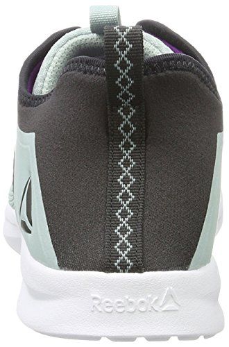 Reebok Bs7756, Zapatillas de Deporte Para Mujer Gris (Seaside Grey / Coal / Vicious Violet / White)