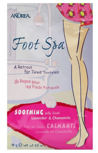 Andrea Foot Spa Soothing Jelly Soak, 0.5-Ounce (Pack of 72) by Andrea