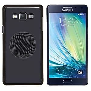 KLONGSHOP // Cubierta de piel con cierre a presión Shell trasero duro de goma Protección Caso - Planet - Samsung Galaxy A7 A7000 //
