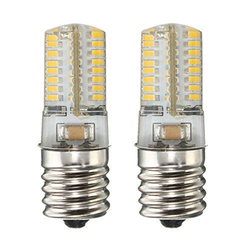 KINGSO E17 Microwave Appliance refrigerator LED light bulb, 4W intermediate freezer Silicone Crystal LED Lights,Low Power Consumption, 64 (Appliance Lightbulb Led)