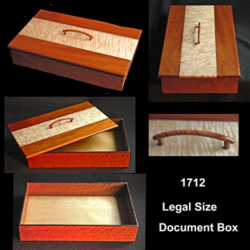 Legal sized executive document holder. S American jatoba and figured maple lid.