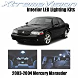 XtremeVision Mercury Marauder 2003-2004 (8 Pieces) Cool White Premium Interior LED Kit Package + Installation Tool