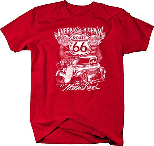 Deuce Coupe Route 66 Hotrod Custom T shirt - (Outdoor Coupe)