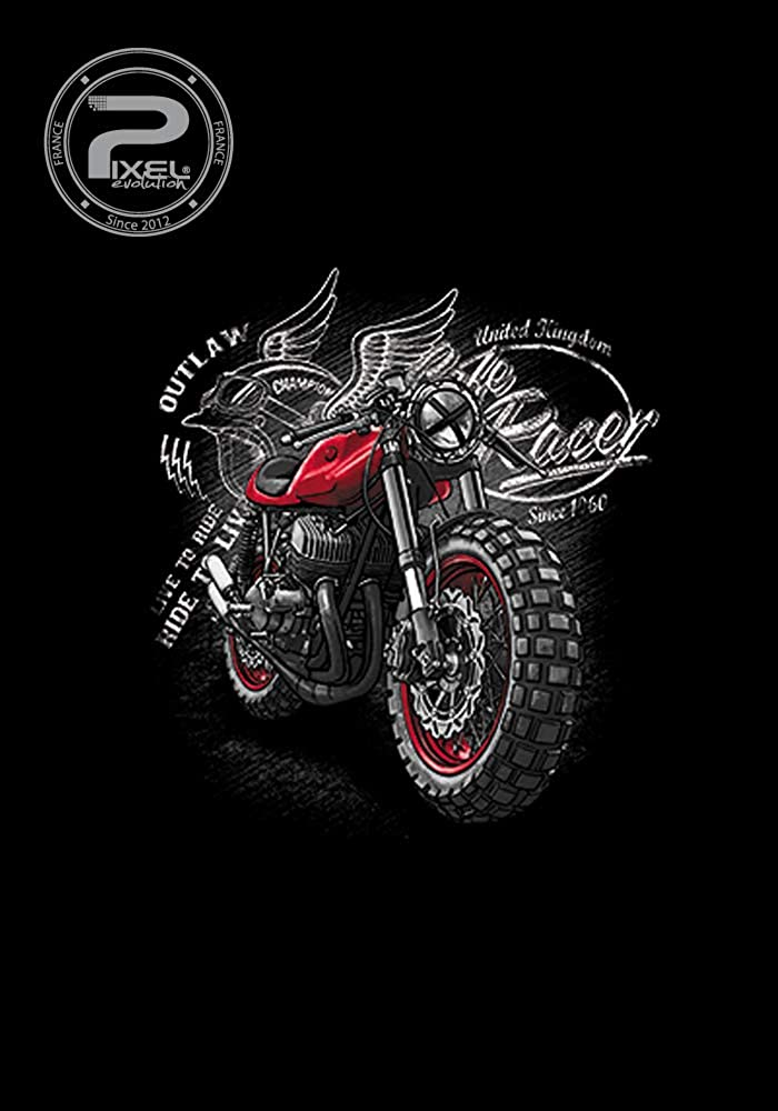 PIXEL EVOLUTION T-Shirt Moto Racer Enfant
