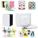 Multi Accessory Bundle Kit with Camera Case Stickers Album Photoframes color Filter Lens for Fujifilm Instax Mini 8 Instant Camera (White)