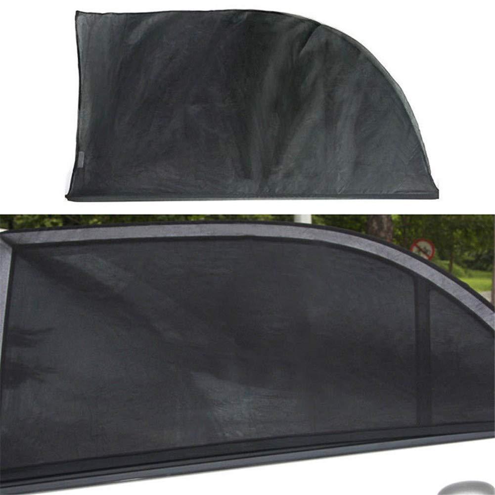 GOUPPER 1 Pair Car Front Side Window Sunshade Mesh Anti-UV Baby Kid Pet Protector Sun Shade Cover