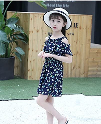Lurryly Baby Girls Sleeveless Sloping Shoulder Floral Print Romper Jumpsuit 0-24 M