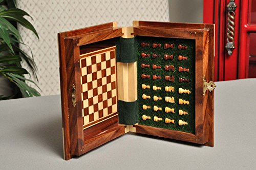 BOOK WOODEN MAGNETIC Travel Chess Set - SMALL - by US Chess Federation by US Chess Federation