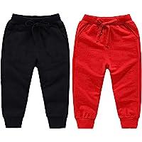 HAXICO Unisex Kids Solid Cotton Elastic Waist Winter Pants Toddler Baby Bottoms Active Sweatpants
