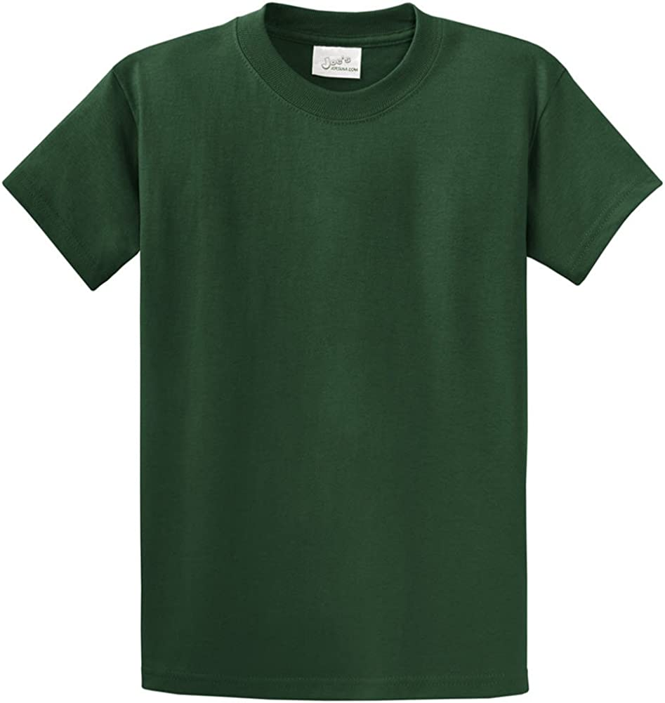 Joe's USA Heavyweight 6.1-ounce, 100% cotton T-Shirts,2X-DarkGreen