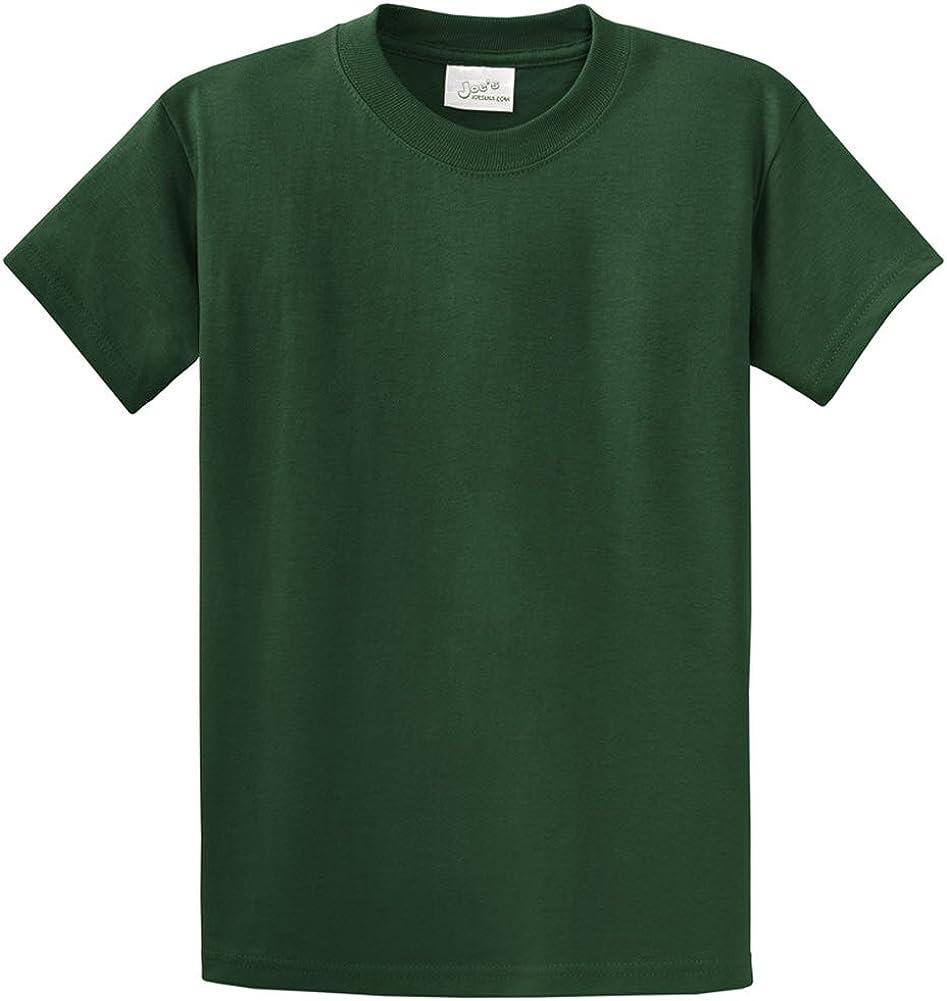 Joe's USA Heavyweight 6.1-ounce, 100% cotton T-Shirts,2X-DarkGreen