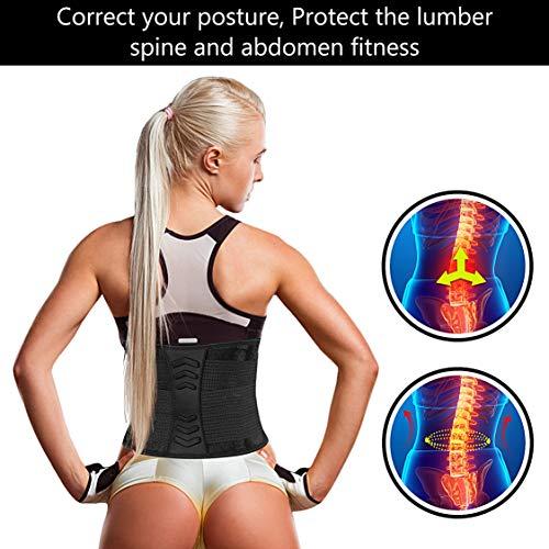 Emooqi Faja Reductora Mujer Y Hombre Cintura Entrenador Adelgazante Deporte De Neopreno Faja Ajustable Cinturon Lumbar Abdomen Barriga Cintura Para Sudar Ejercicio Fitness Sauna