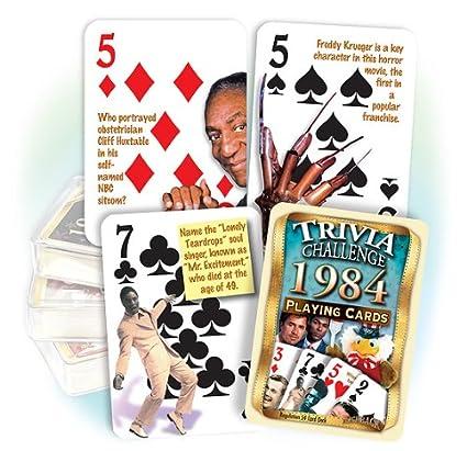 Amazon Flickback Media Inc 1984 Trivia Playing Cards