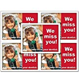 Laser Reminder Postcards, Dental Appointment Reminder Postcards. 4 Cards Perforated for Tear-Off at 4.25'' x 5.5'' on an 8.5'' x 11'' Sheet of 8 Pt Card Stock. DEN103-LZS (1000)
