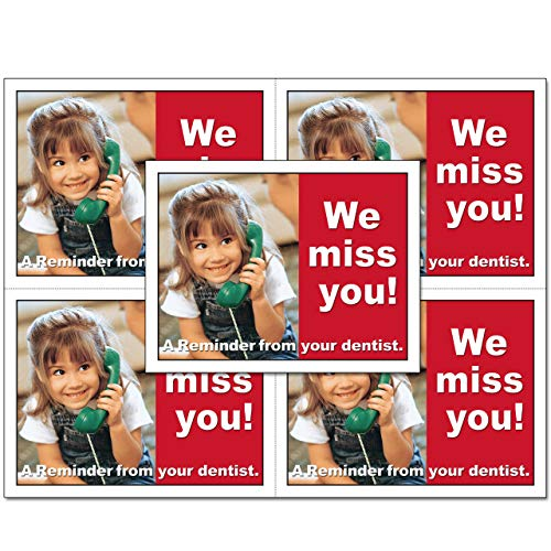 Laser Reminder Postcards, Dental Appointment Reminder Postcards. 4 Cards Perforated for Tear-Off at 4.25'' x 5.5'' on an 8.5'' x 11'' Sheet of 8 Pt Card Stock. DEN103-LZS (5000) by Custom Recall (Image #3)