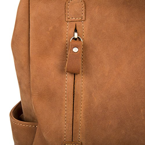 BAIGIO Damen Leder Rucksack Handtaschen Tagesrucksäcke Vintage Reisetasche,Braun
