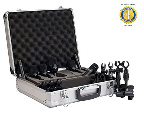 Audix FP7 7-Piece Fusion Drum Microphone Package with 1 Year Free Extended Warranty