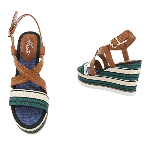 at Green Flat Multi Platform Women's D Sandals Design Ital Sandals 31 0xYqW4Zww6