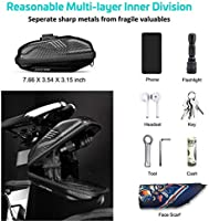 RUJOI Bike Saddle Bag 3D Shell Seat Pack Buckle Install Large Storage Cycling Bag Rainproof Wedge Saddle Bag for Mountain Road Bicycle Seat Bag