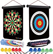TriMagic Magnetic Dart Board - Best Birthday Toy Gift for 6 7 8 9 10 12 Year Old Boys, Cool Outdoor Games for Kids 8-12, Inc