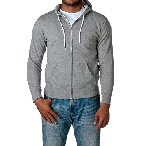 Co. Unisex Full Zip Hooded Sweatshirt, Gunmetal Heather, X-Large ()