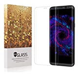 Glalaxy S8 Plus Screen Protector, Full Cover 3D Curved Ballistic Glass, 9H Hardness, Anti-Scratch, Anti-Fingerprint Tempered Glass, Lifetime Replacement Warranty