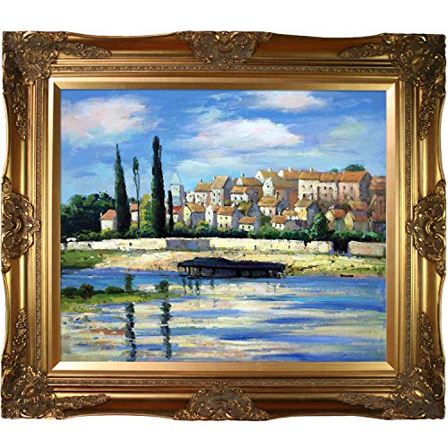 La Pastiche overstockArt Carrieres Saint Dennis Oil Painting with Victorian Gold Frame by Monet