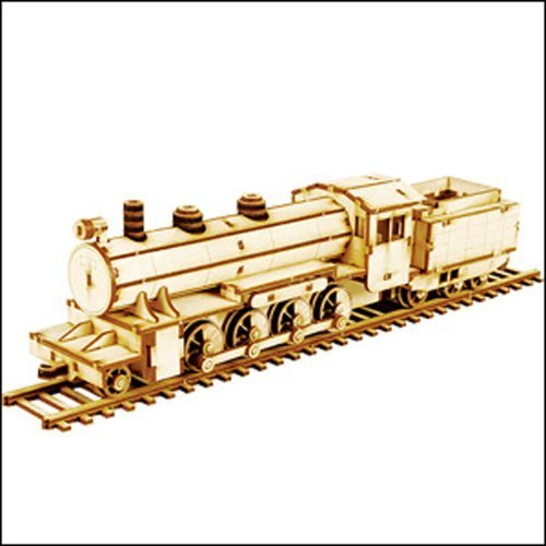 Desktop Wooden Model Kit Steam Locomotive by Young Modeler