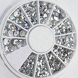 Adecco LLC Great Mixed DIY Size Glitter Rhinestones Charm 3D Nail art Decor Accessories (common)