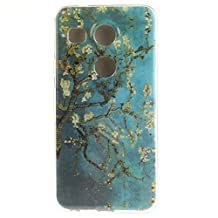 "LG Nexus 5X Case, SsHhUu Beautiful Flower [Peach Blossom] Style Ultra Slim Soft TPU Flexible Durable Gel Silicone Protective Rear Skin Cover for LG Nexus 5X 5.2"""