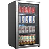 Incroyable HOmeLabs Beverage Refrigerator And Cooler   Mini Fridge With Glass Door For  Soda Beer Or Wine