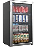 hOmeLabs Beverage Refrigerator and Cooler - 120 Can Mini Fridge with...