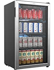 Spruce up your style and enjoy the luxurious convenience of this hOmeLabs Stainless Steel Beverage Cooler. The coolest solution if you don't have room in your fridge or freezer for a variety of entertainment beverages during indoor or outdoor...