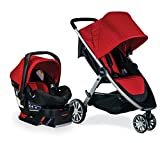 Britax B-Lively Travel System with B-Safe 35 Infant Car Seat, Cardinal - Birth to 55 Pounds