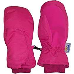 N'Ice Caps Kids and Baby Easy On Wrap Waterproof Thinsulate Winter Snow Mitten (Fuchsia 1, 4-5 Years)
