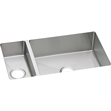 Elkay Crosstown EFRU321910 30/70 Double Bowl Undermount Stainless Steel  Kitchen Sink
