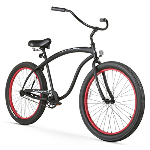 - Firmstrong Bruiser 3.0 Man Single Speed Beach Cruiser Bicycle, 26-Inch, Matte Black