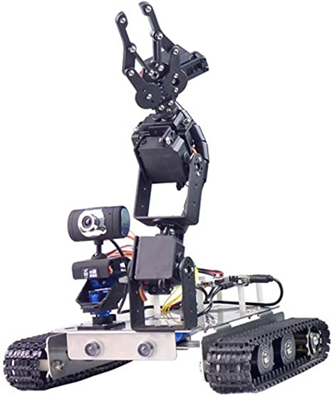 Fasiy Programable Robot para Raspberry pi 4, Smart Robot Car Kit con WiFi, Bluetooth y Cámara HD - Compatible con Arduino / 51duino/ Raspberry pi: Amazon.es: Juguetes y juegos