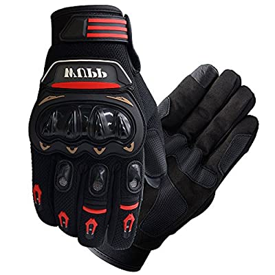 FLY5D Pro-Biker Bicycle Motorcycle Motorbike Powersports Racing Gloves (L,XL,XXLRed)