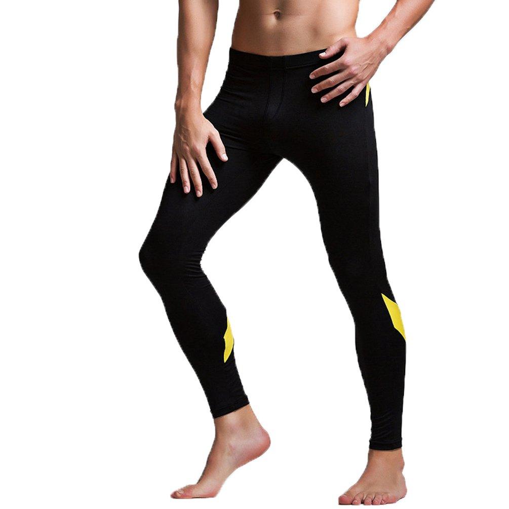 ZKOO Uomo Slim Calzamaglia Pantaloni Termici Lunga Baselaye Pantaloni Collant Legging