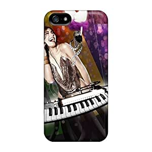 Anti-scratch And Shatterproof I Love Music Phone Case For Iphone 5/5s/ High Quality Tpu Case