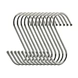 10 Pcs Stainless Steel S Shape Hanger Hooks Clothes Pot Pan Storage Rack,L Size