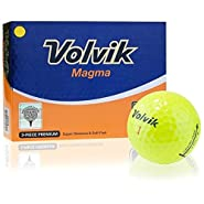 Volvik Magma Non-Conforming Distance Golf Balls - Yellow / 12 Count Box